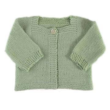 Cardigan bébé Victoire- modèle à tricoter en français - Tutoriels de tricot…