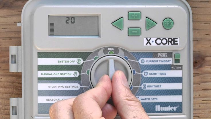 hunter x-core irrigation controller how to set up