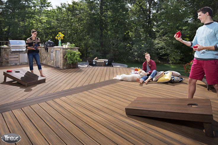 657 best images about trex inspiration and ideas on pinterest for Compare composite decking brands