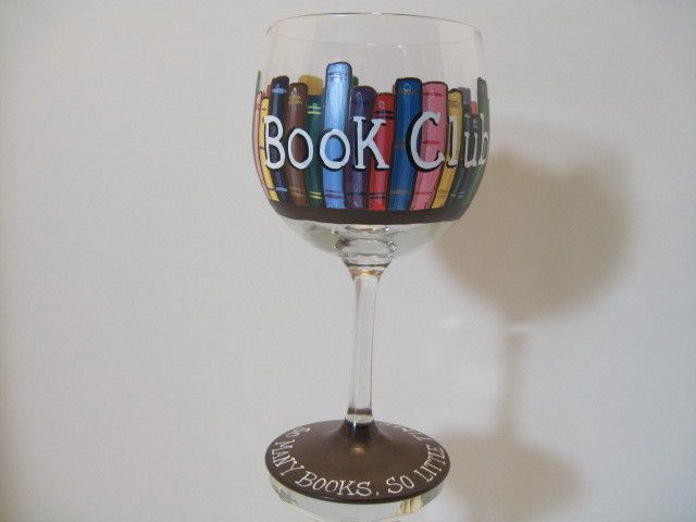 Book club wine glass diy my name is lisa and i 39 m a for Type of paint to use on wine glasses