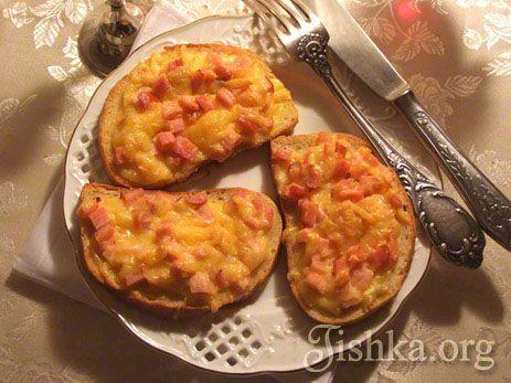 Горячие бутерброды с сыром и ветчиной рецепт с фото