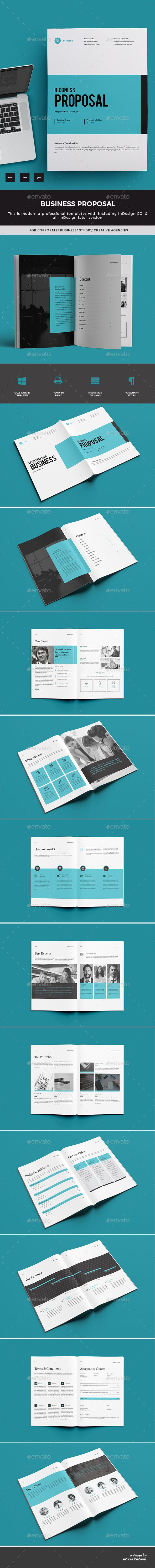 #Proposal - Proposals & #Invoices #Stationery Download here: https://graphicriver.net/item/proposal/19519103?ref=alena994