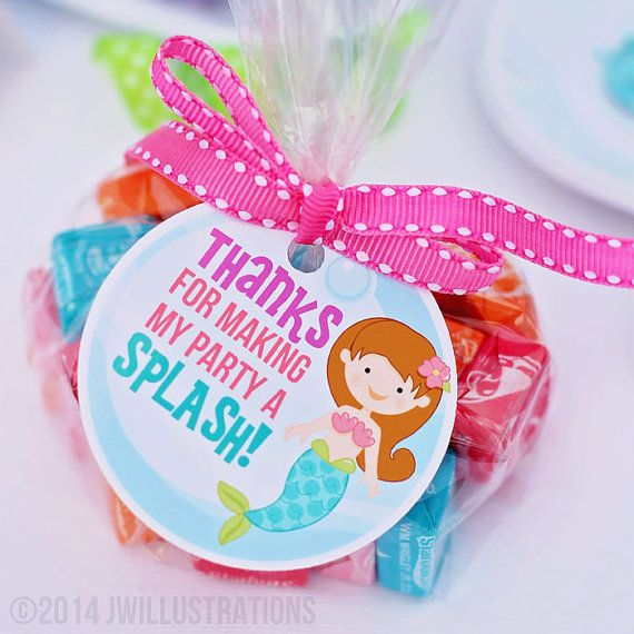 Mystical Mermaid Printable Party Favor Tags - Cupake Toppers - Printable Mermaid Party Favors - Thanks for Making My Party a Splash on Etsy, $5.00