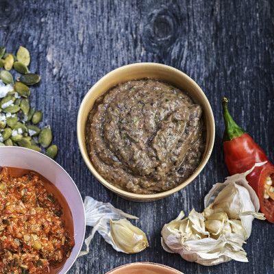 Röra med svarta bönor och koriander (Coop) Black bean dip