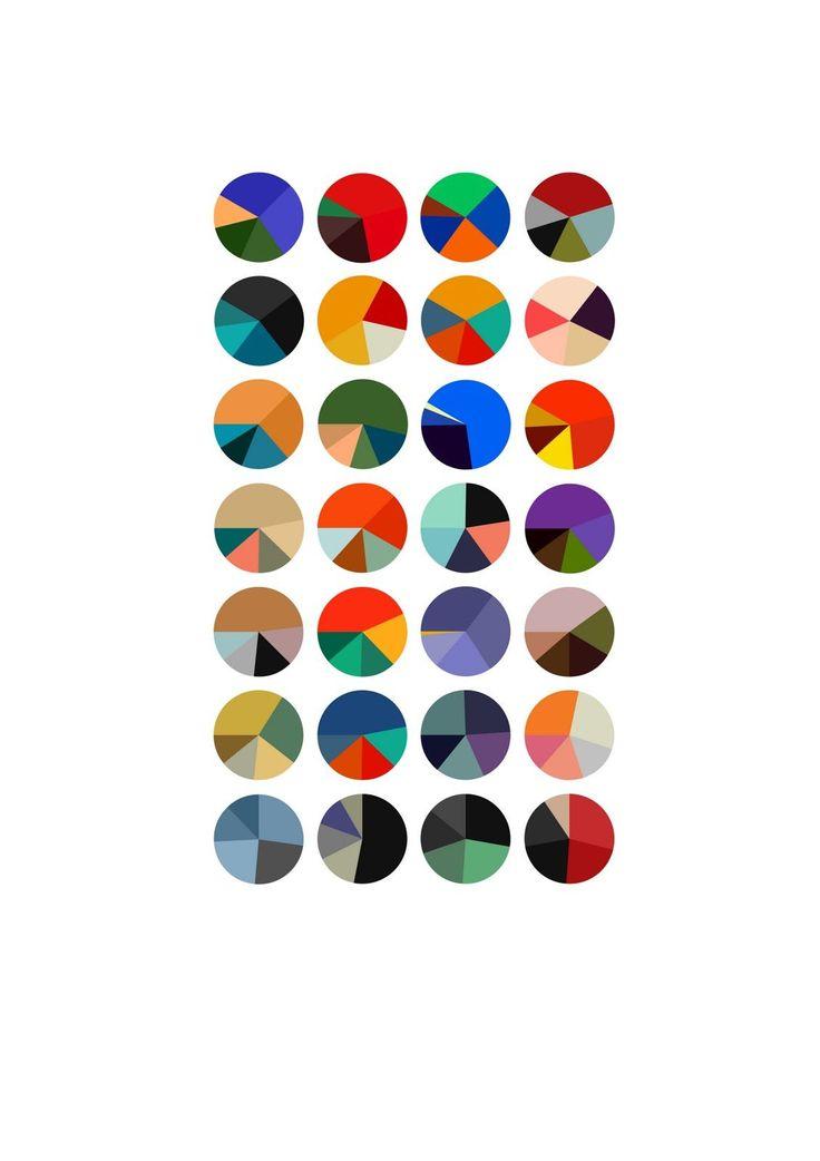 color schemes of Matisse paintings by Arthur Buxton #infographics #data #visualization #matisse #art #colors READ http://www.designboom.com/weblog/cat/8/view/14252/arthur-buxton-color-trend-visualizations.html