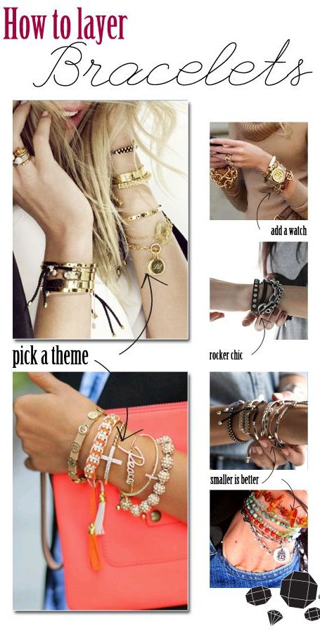 Layering bracelets is truly an art. Don't be afraid to dive in and give it a try!