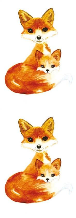 [Visit to Buy] Waterproof Temporary Fake Tattoo Stickers Orange Fox Cartoon Design Body Art Make Up Tools #Advertisement