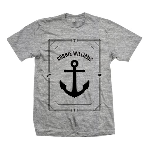 Shop > Unisex Grey Anchor T-Shirt | Robbie Williams