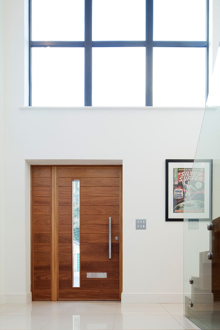 Terano e80 in iroko with matching side panel ref terano for Front door and side panel