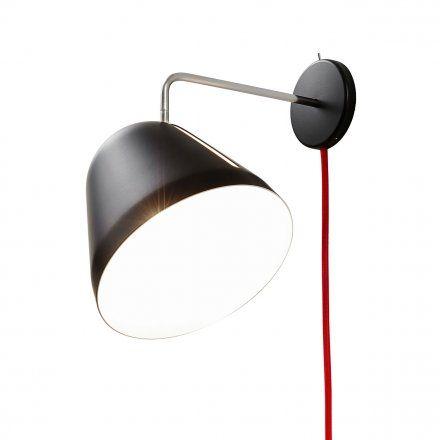Nyta Lampada da parete Tilt Wall con corda e tasto di accensione Illuminazione  Lampade da parete