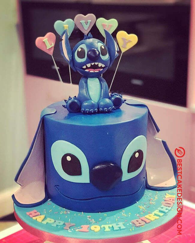 Stitch By Karen Dodenbier With Images Stitch Cake Lilo And