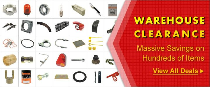 Warehouse Clearance - We are overstocked with hundreds of tractor parts and accessories. Buy from UK's leading replacement tractor parts online retailer and SAVE!