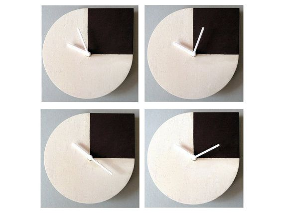 Rholog wooden wall clock homage to Andy Warhol by lexioshop