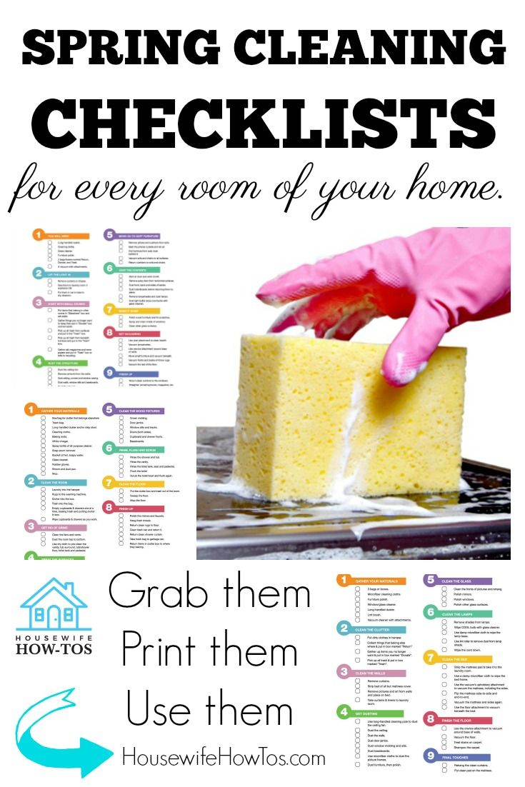 Spring Cleaning Checklists for EVERY Room of your Home #springcleaning #deepcleaning #cleaning #cleaningchecklists #homemaking