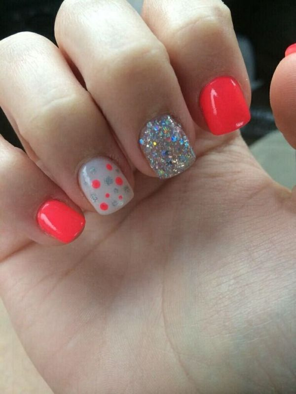 U 241 As De Ne 243 N De Color Naranja De Verano Por Sherrie U 241 As Nails Summer Nails Y Get Nails