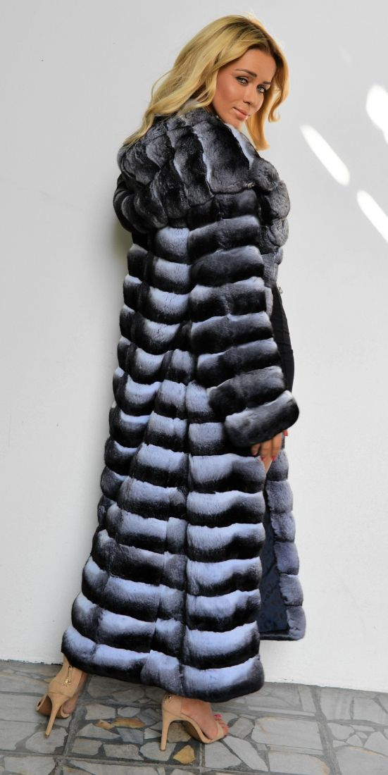 chinchilla furs - exclusive chinchilla fur coat with hood