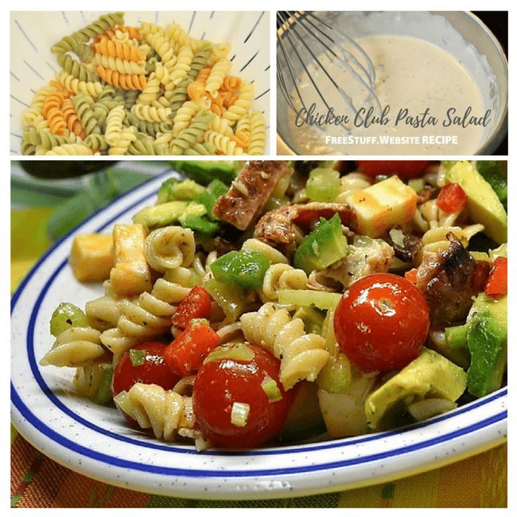 This pasta salad is great for on the go as a quick all in one meal. Substitute the cheese with your favorite kind if you prefer!