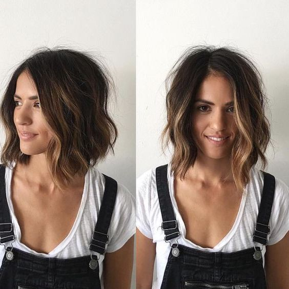 Best 25 medium thin hair ideas on pinterest medium - Carre long ondule ...
