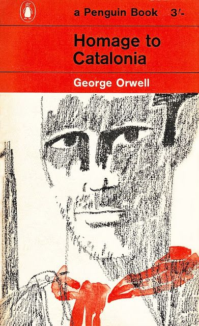 1962 Penguin Books. Homage to Catalonia by George Orwell. Illustration by Paul Hogarth RA.
