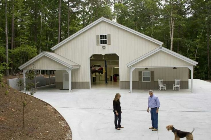 Basic design pole barn garages pinterest barn for Pole barn style garage