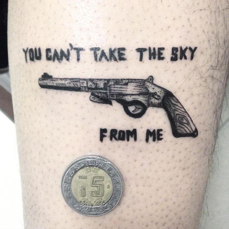Serenity #tattoo #tattooart #mexicotattoo #tatuajeenmexico #tatuaje #tatuajesmexico #blackwork #minitattoo #serenity #firefly #pistol #pistoltattoo #singleneedle #fineline #blackink #ink #blacktattoo #linework #blacklines #tattoomexico #darkartists #blacktattooart #instatattoo #tattooart #blxckink