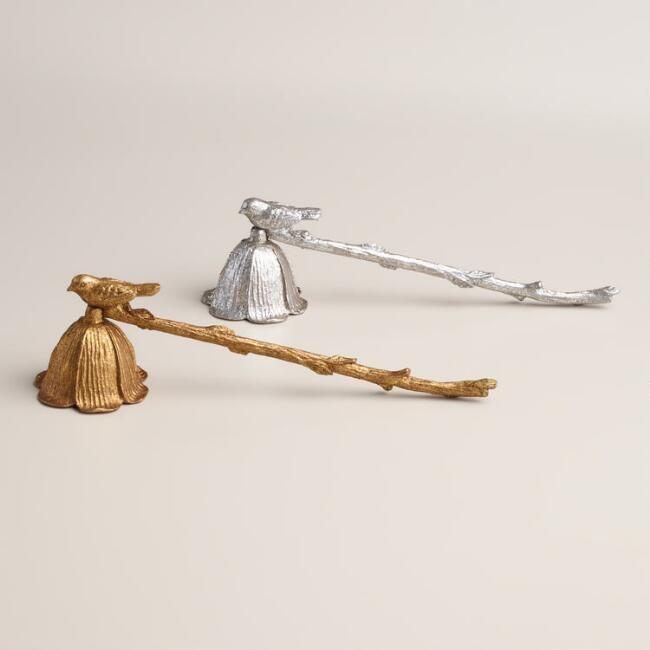 Metal Bird Candle Snuffers, Set of 2