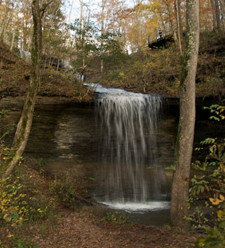 We are taking a drive on the parkway from Alabama state line to Nashville for Labor Day weekend   This is going to be stop 2 on Day 2   Fall Hollow Waterfall on the Natchez Trace Parkway