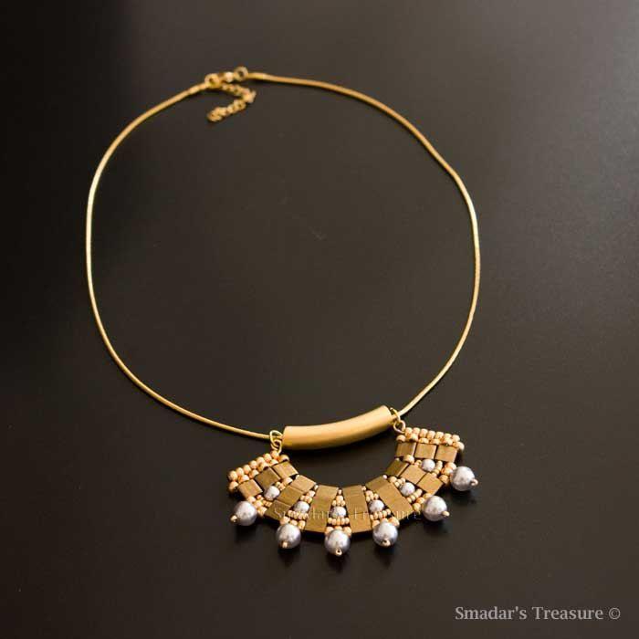 Ciondolo in bronzo oro con argento cristallo di SmadarsTreasure