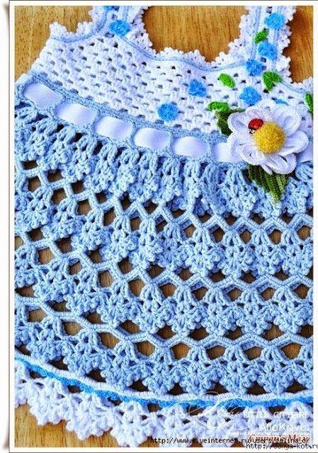 See that beautiful dress in crochet. | Crochet patterns free