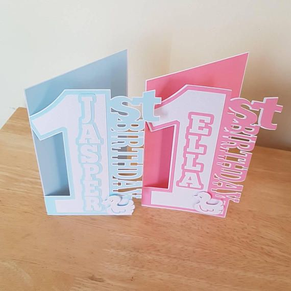 Personalised 1st Birthday Card For Boy Girl Baby Son Etsy 1st Birthday Cards Birthday Cards Personalized Birthday Cards