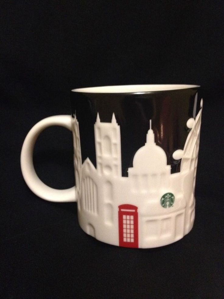 Starbucks London Relief Mug Black Eye Westminster Big Ben Tower Westminster New #Starbucks