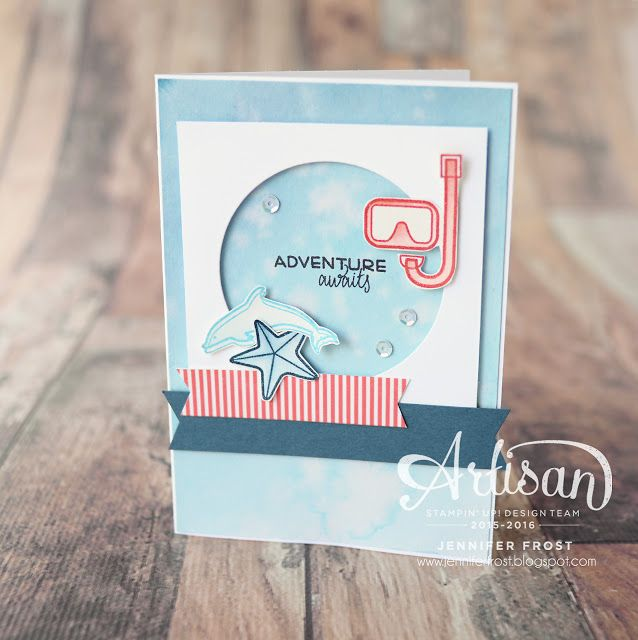 Day at the Beach, Places You'll Go, Stampin' Up!, Papercraft by Jennifer Frost…