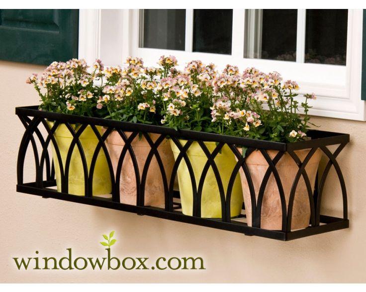 """60"""" Arch Window Box Cage (Square Design) - 60"""" Window Boxes - Window Boxes…"""