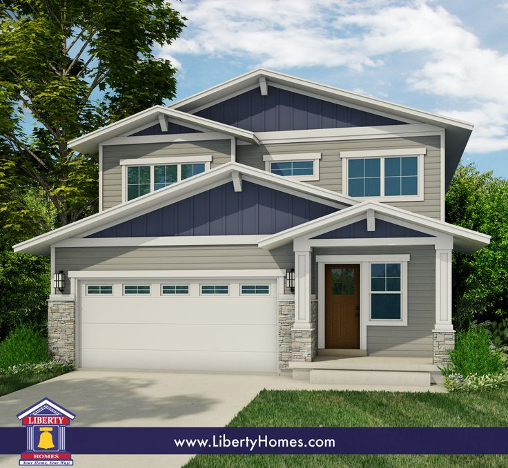An affordable and livable two story craftsman style