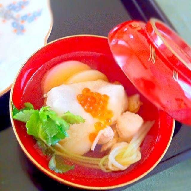 我が家のお雑煮はかつおだしベースに鶏肉と三つ葉といくらを入れるのが定番 - 35件のもぐもぐ - 我が家のお雑煮 by MasakoSudoFmI