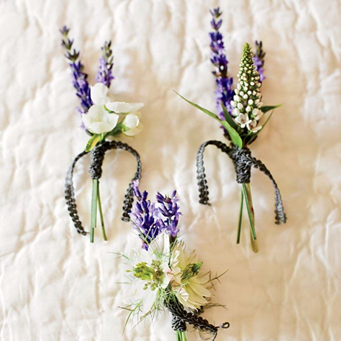 Rustic Lavender Boutonnieres  My Wedding Plans  Lavender boutonniere Wedding bouquets