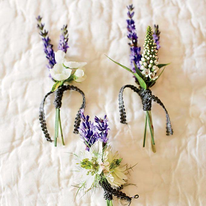 Rustic Lavender Boutonnieres Lavender Boutonniere