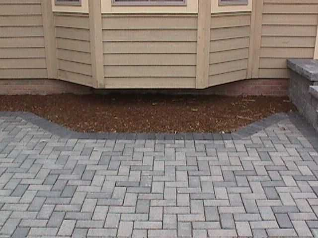 Herringbone pavers | Patio | Pinterest | Grey and Herringbone