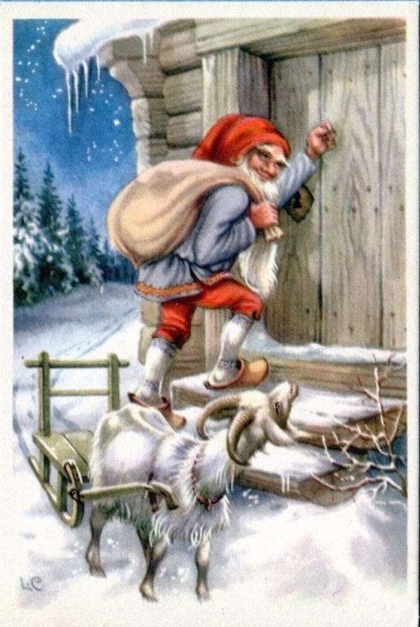 Рождественская открытка финляндия, космосе для детей
