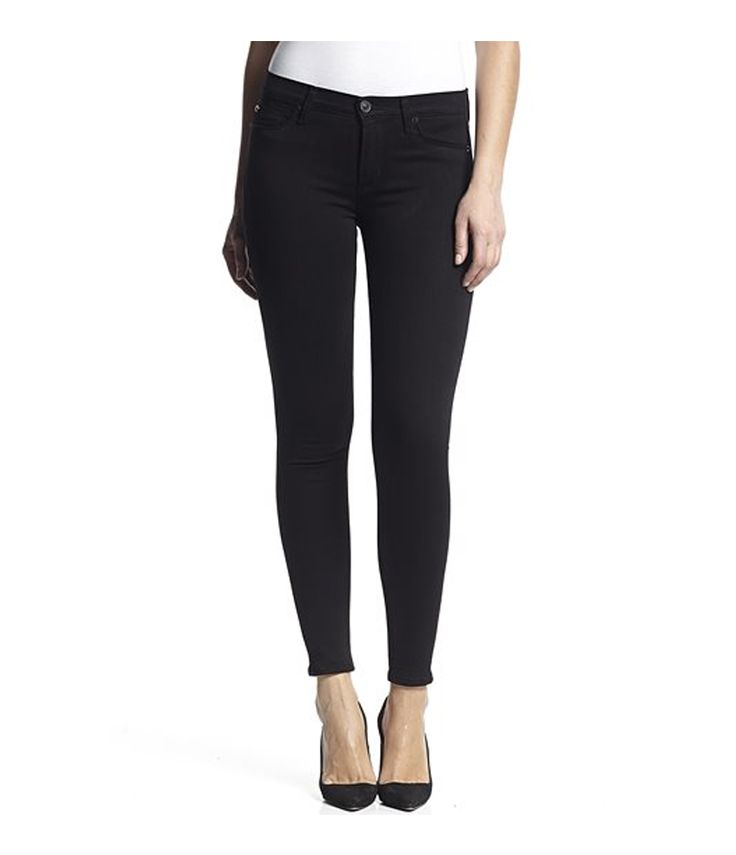 Hudson  Nico Mid-Rise Super Skinny In Black: The Nico features a super slim silhouette which is super figure flattering. Mid-rise which sits a little higher on the waist for a comfortable fit and power stretch fabric which will give you the perfect pair of jeans to have on all day everyday. Everyone needs a go to pair of black jeans which can take you from day to night seamlessly wether your going for an lunch with the girls or a night on the town. The Nico has viscose rich fibre to give you…