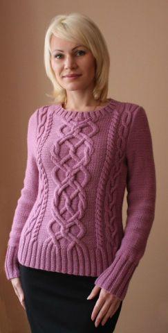 ФОТО и схемы Красивые вязаные джемперы из розовых ниток для женщин — Рамблер/картинки
