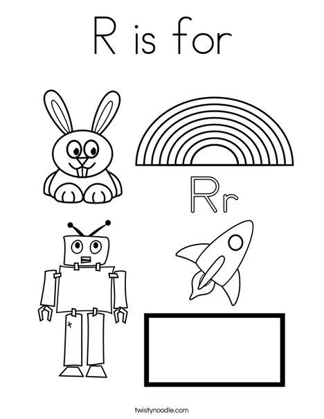 preschool r coloring pages - photo#17