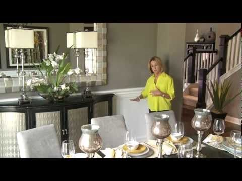 Join award-winning model home interior designer, Mary DeWalt, as she shares secrets of great dining room design in a two-minute video on YouTube from New Home Source.