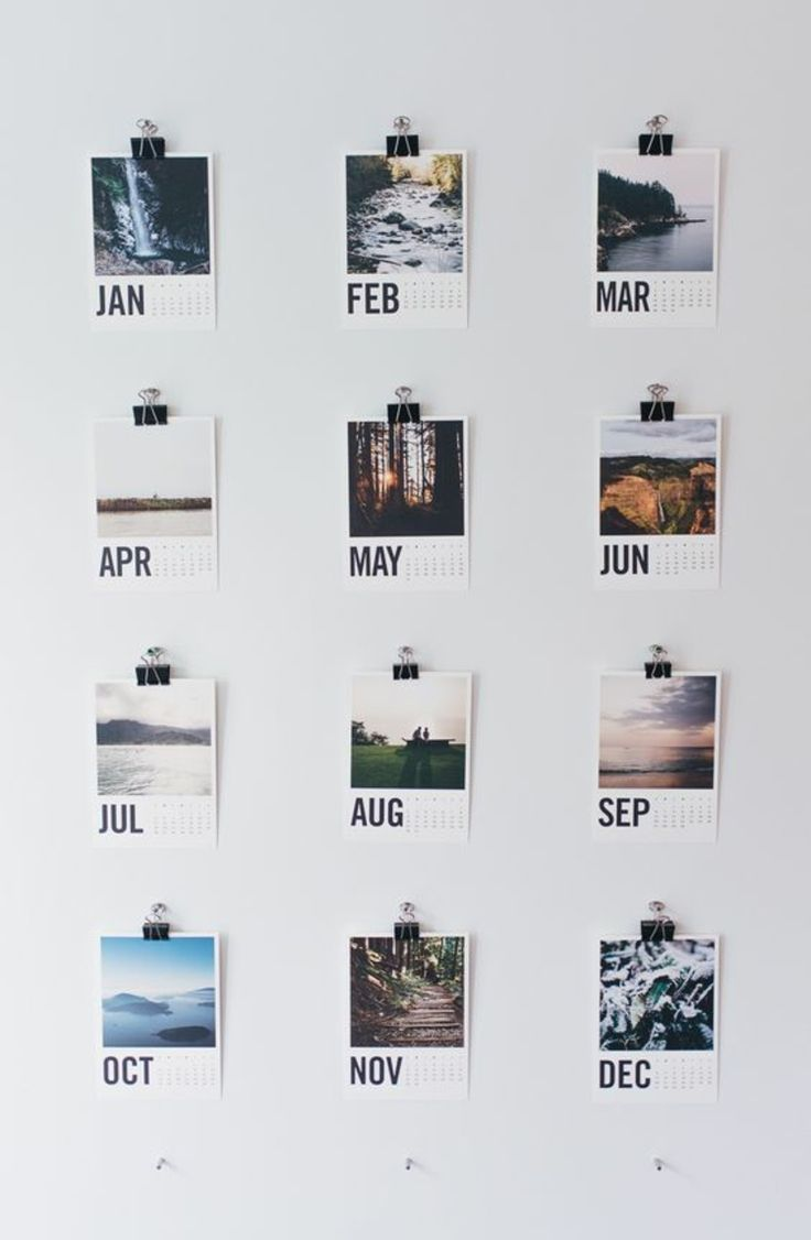 Wandkalender selber machen Wand dekorieren                                                                                                                                                                                 Mehr