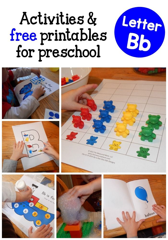 Looking for fun, hands-on letter B activities to do with your preschooler? We've got a ton! Free printables included!