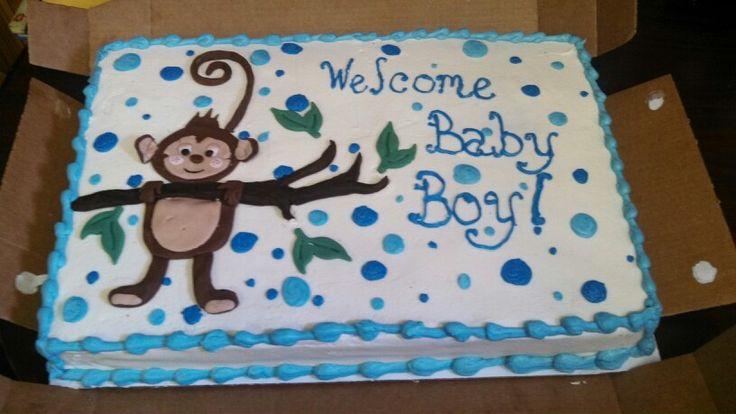 monkey baby shower sheet cake monkey and branch are fondant pastry