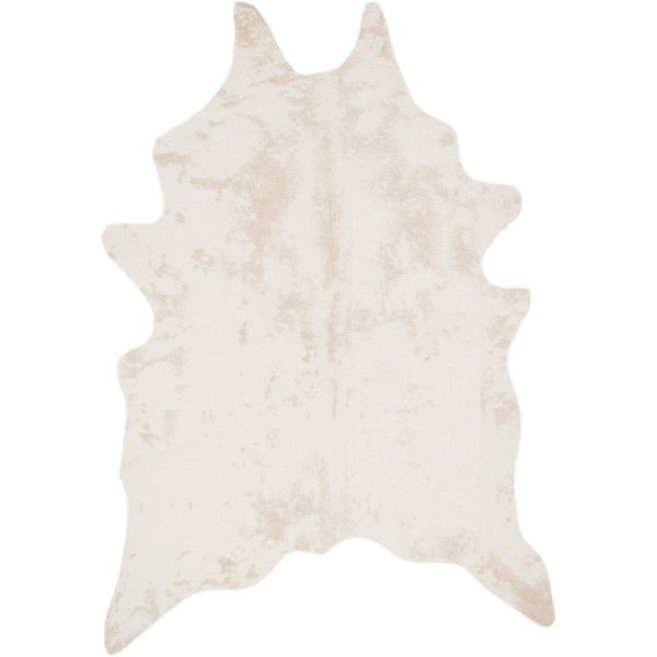 alexander home rawhide ivory rug liked on polyvore featuring home