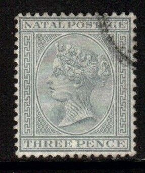 South Africa Natal Scott 69 - SG101, 1882/1889 3d Grey, used - bidStart (item 38506880 in Stamps, British Commonwealth)