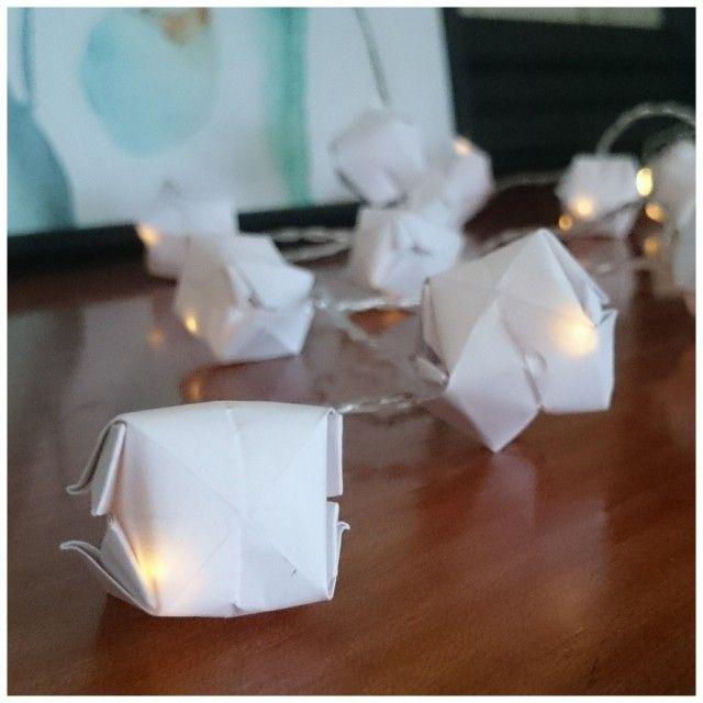 Lag din egen LED-lyslenke med origami-kuber.