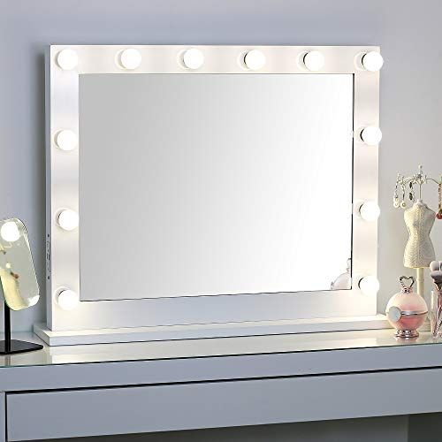 Large Hollywood Vanity Mirror With Lights Lighted Standin Https